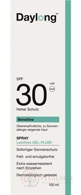 Daylong Sensitive SPF 30 gel - fluid v spreji 1x150 ml