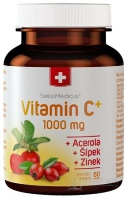 SwissMedicus Vitamín C+ 1000 mg cps 1x60 ks