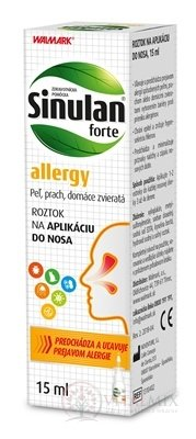WALMARK Sinulan forte allergy roztok do nosa 1x15 ml
