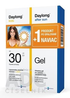 Daylong kids SPF 30 lócio 200 ml + After sun Gel 200 ml NAVIAC, 1x1 set
