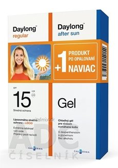 Daylong regular SPF 15 + After sun Gel NAVIAC lócio 200 ml + gél 200 ml, 1x1 set