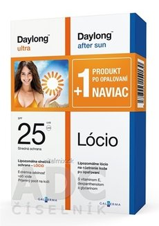 Daylong ultra SPF 25 + After sun Lócio NAVIAC lócio 200 ml + lócio 200 ml, 1x1 set