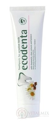 Ecodenta For sensitive teeth zubná pasta na citlivé zuby (s extraktom z harmančeka, klinčekmi a Kalidentom) 1x100 ml