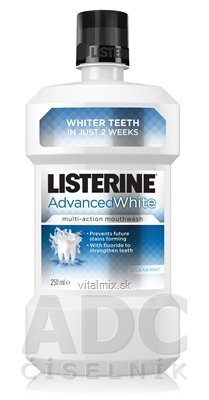 LISTERINE ADVANCED WHITE ústna voda 1x250 ml