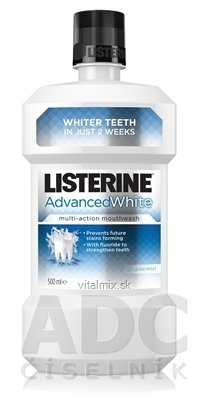 LISTERINE ADVANCED WHITE ústna voda 1x500 ml