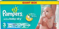 PAMPERS Active Baby 3 MIDI 108ks (4-9 kg) GIANT BOX PLUS
